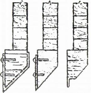 . Режущие ножи на нижнем венце сруба