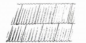 Укладка листов шифера вразбежку