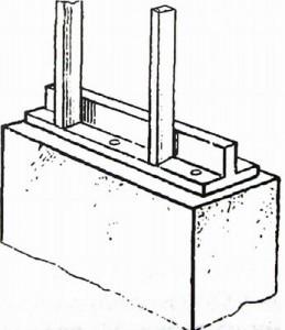 Крепление каркаса панельной бани к фундаменту