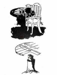 Стол из пня