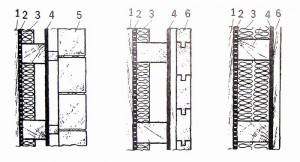 Варианты конструкции панельных стен